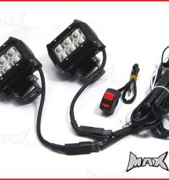 universal motorcycle 18 watt cree led spot driving lights rh ural france fr off road light wiring harness light bar wiring harness [ 1024 x 768 Pixel ]