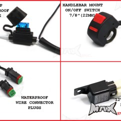 Wiring Diagram For Motorcycle Led Lights Pj Homebrewtalk Universal 18 Watt Cree Spot Driving