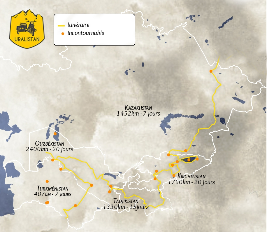 road-trip moto en Asie centrale