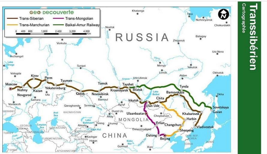 Carte du Transsibérien- source www.espace-transsiberien.com