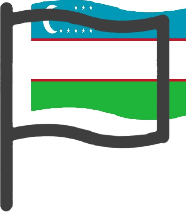 Voyager en Ouzbékistan - drapeau de L'Ouzbékistan