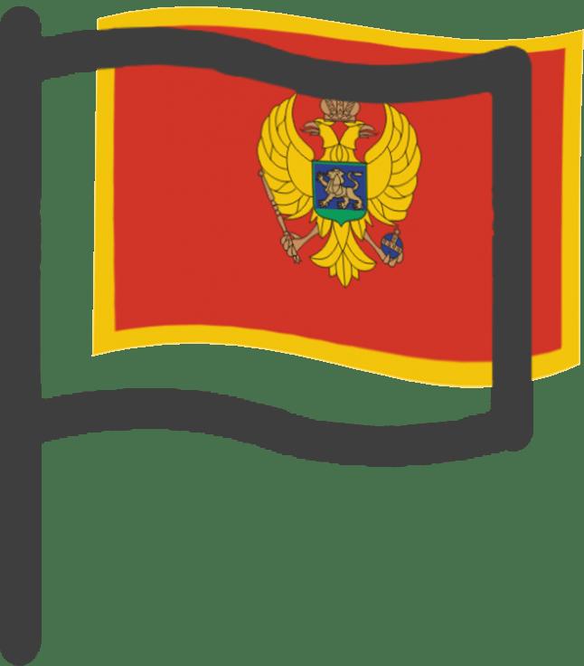 Monténégro, drapeau