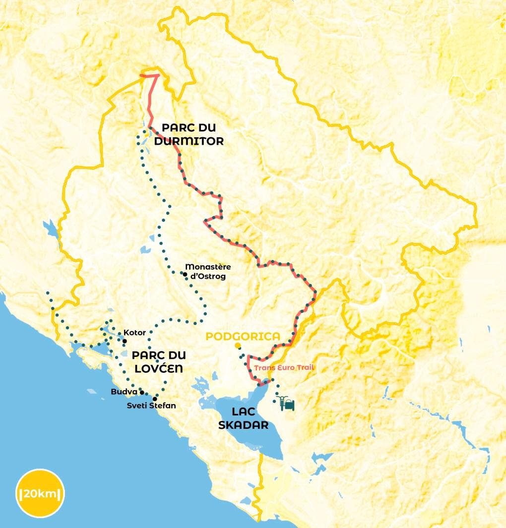 roadtrip au Monténégro - notre itinéraire URALISTAN