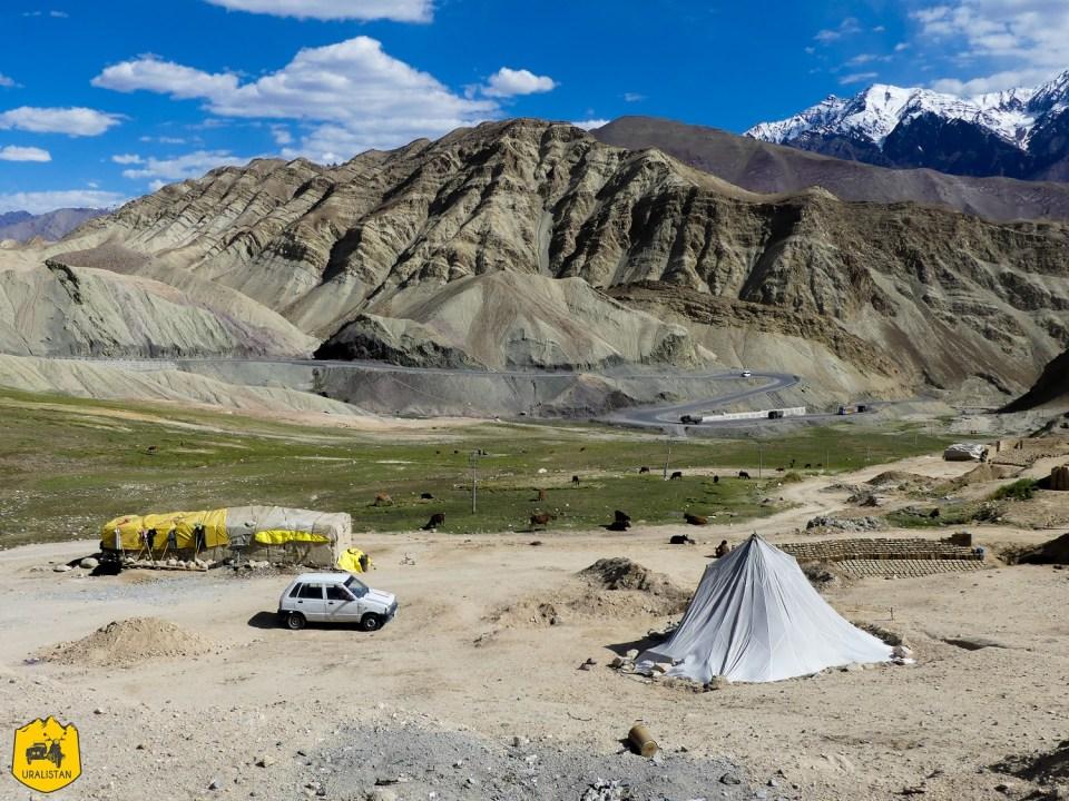 Paysages du Ladakh et nomadisme, entre Kargil et Leh