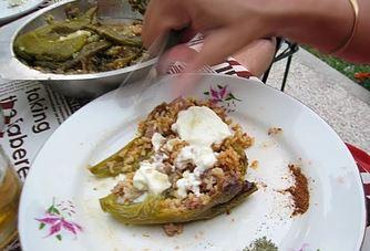 Gastronomie bulgare, plat traditionnel en Bulgarie : pulneni tchouchki (poivrons farcis)