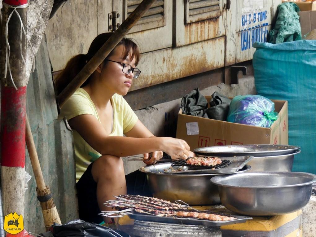 Street food à Hanoï, Vietnam
