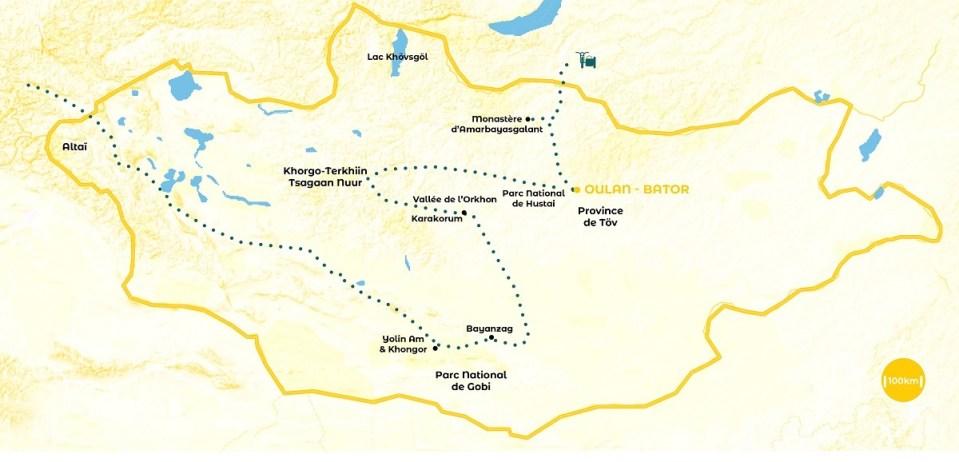 Roadtrip en Mongolie - notre itinéraire - URALISTAN