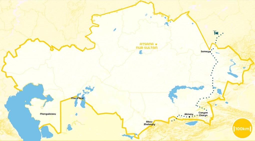 Roadtrip au Kazakhstan - notre itinéraire - URALISTAN