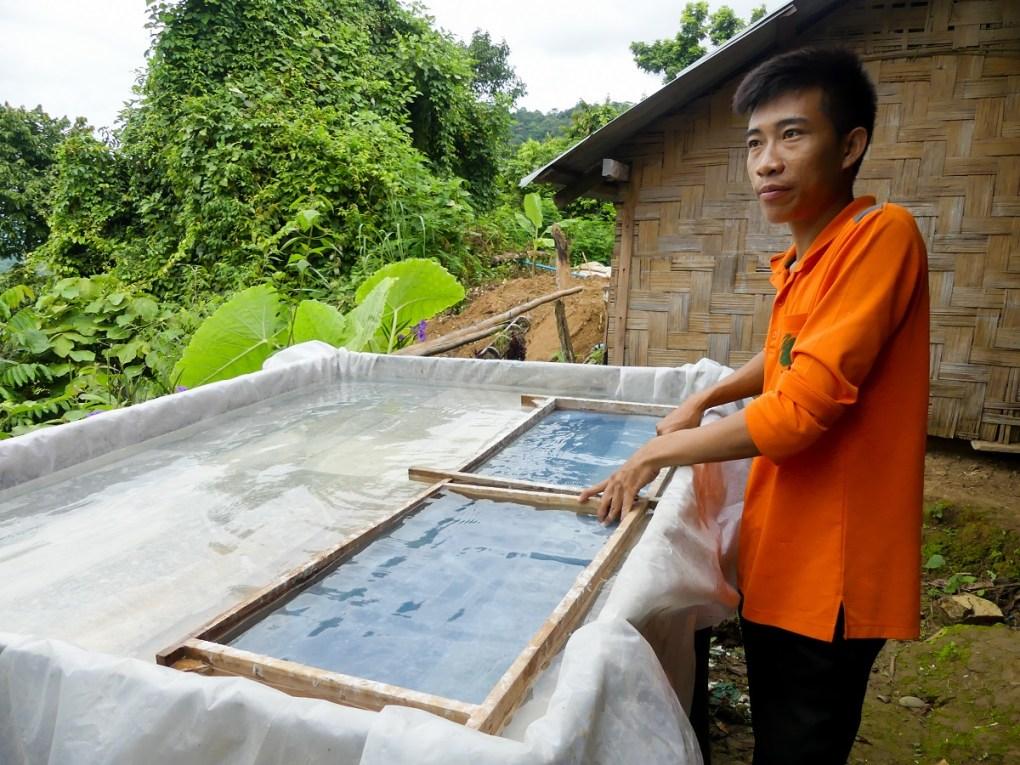 Artisanat laotien : papier sa - URALISTAN