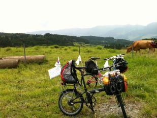 아소산을 풍경 - 자전거