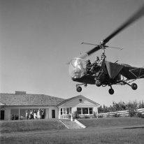 Margaret Bourke-White en hélicoptère