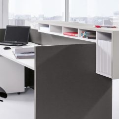 Home Desk Chairs Deals On High Basic C Reception | Modular Panel Based Counter