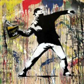 "Bansky, ""Mr brainwash"". Présenté par 34 Fine Art, Cape Town, Londres"