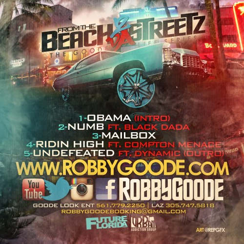 Robby Goode - From the Beach 2 Da Streetz (Back)