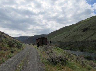 Abandoned railcar.