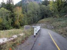 Trail switchbacks.