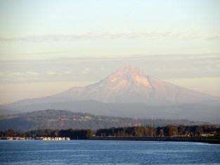 Mount Hood looms over the Columbia.
