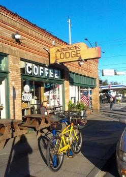 Coffee at Arbor Lodge.