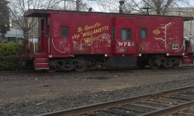 W&P caboose by Hatfield MAX Station in Hillsboro.