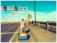 Carl hauls Pedalpalooza calendars