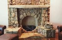 Circular stone fireplace | GA Urban Ag Council