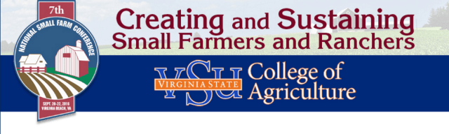 7th National Small Farm Conference To Be Held in Virginia Beach This Fall