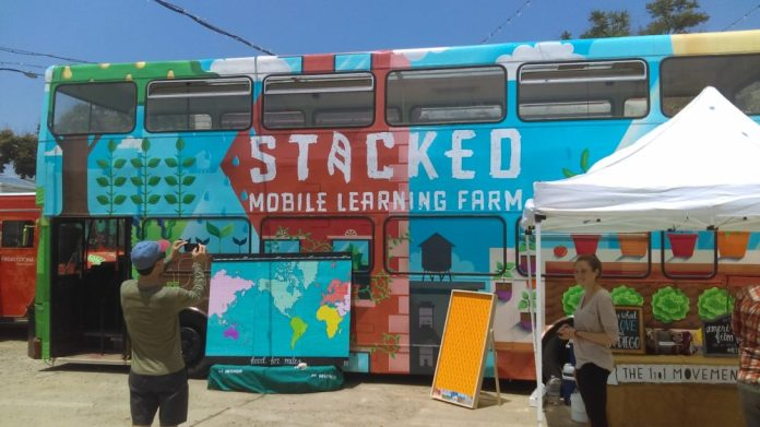 San Diego Food System Alliance Stacked Mobile Learning Farm
