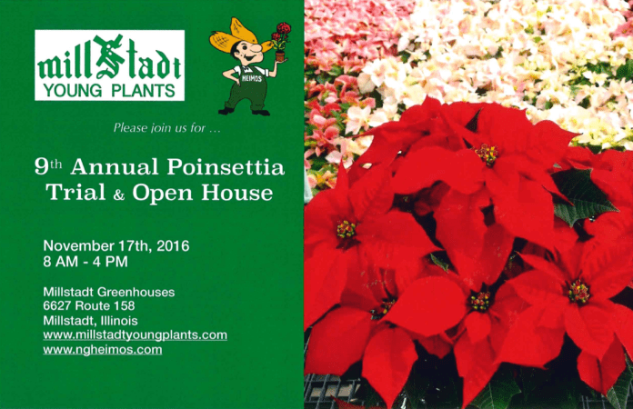 9th annual poinsettia trial and open house
