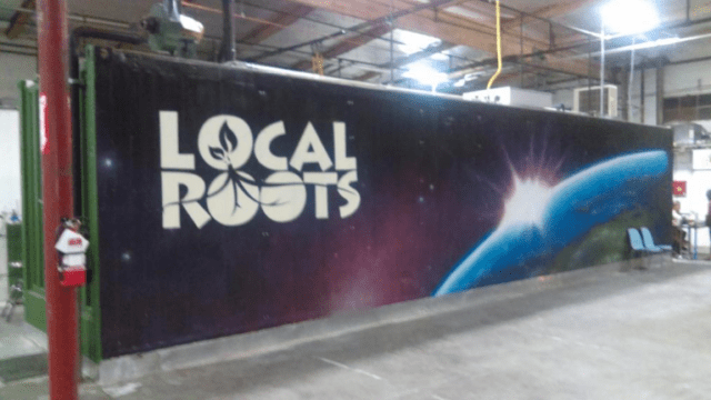 Local Roots Farms' first container (now located with others at their new facility in Vernon, CA)