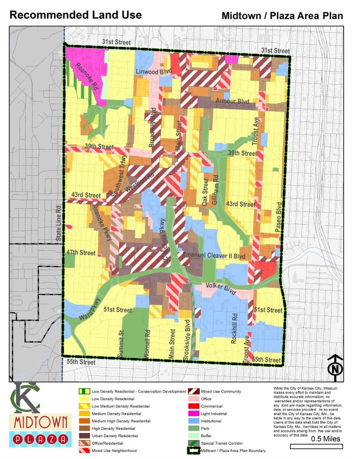 Draft Midtown Plaza Area Plan Land Use Map