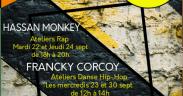 Les ateliers d'Hassan Monkey Francky Corcoy et D.H. à l'UPVD