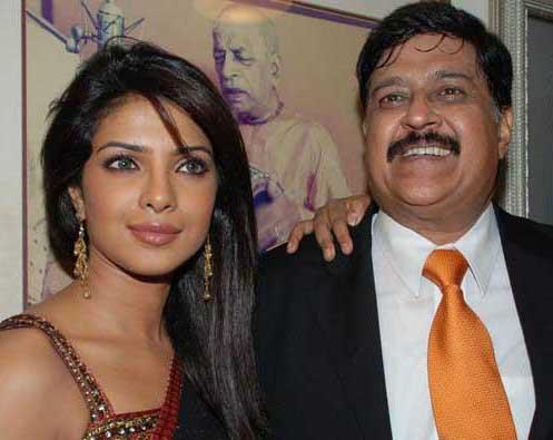 Priyanka Chopra and her dad