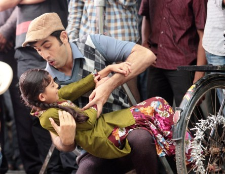 Ranbir Kapoor wihth Choti 'Hitler'Shruti Bisht on the sets of Zee TV's Hitler Didi