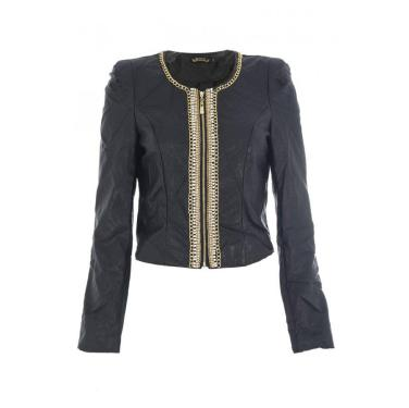 Black Diamante and Pearl Detail Jacket