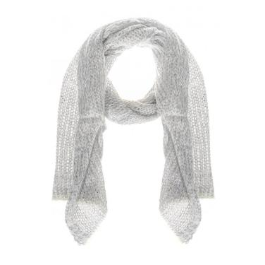 Grey Loose Knit Sequin Scarf