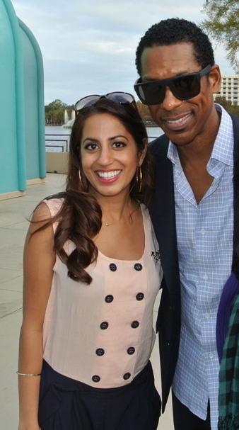 Prita with Orlando Jones