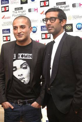 Adil Ray and Nihal at the Manish Malhotra Fashion Fundraiser in London in aid of The Angeli Foundation