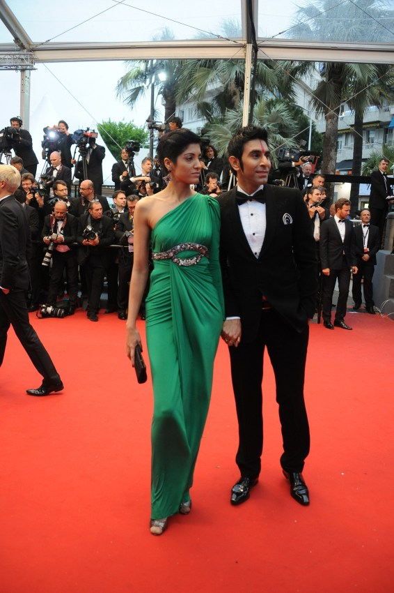 Sandip Soparrkar with his wife Jesse Randhawa at Cannes Film Festival