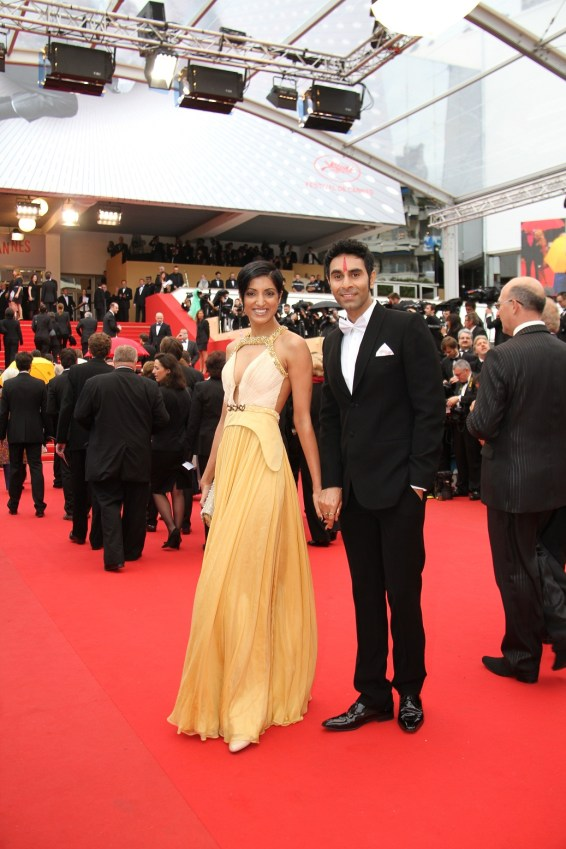 Sandip Soparrkar with his wife Jesse Randhawa at Cannes Film Festival1