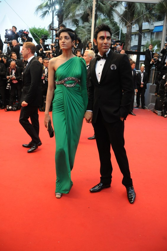 Sandip Soparrkar with his wife Jesse Randhawa at Cannes Film Festival2