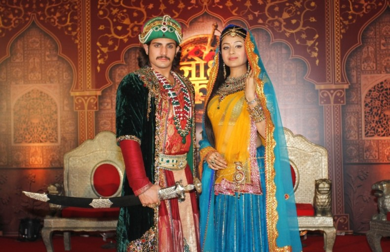 Akbar and his Jodha - Actors Rajat Tokas and Paridhi Sharma at the press launch of Zee TV's Jodha Akbar