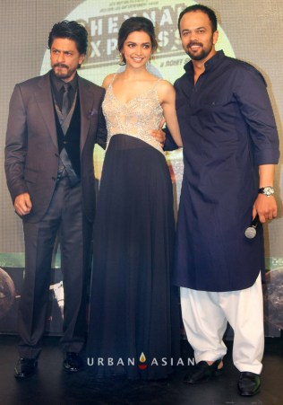 130703_215302Shahrukh Khan With Deepika Padukone and Rohit Shetty At Music Launch