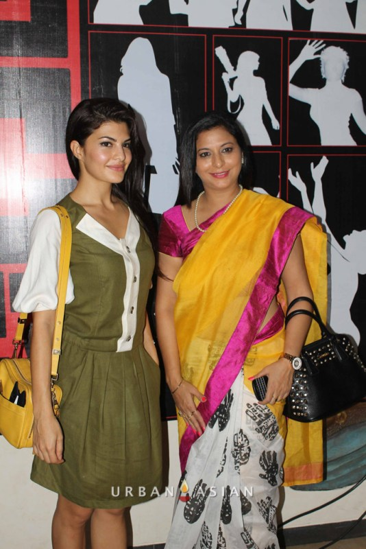 Jacqueline Fernandez With Socialist Gurpreet Kaur At Are We Safe Campaign