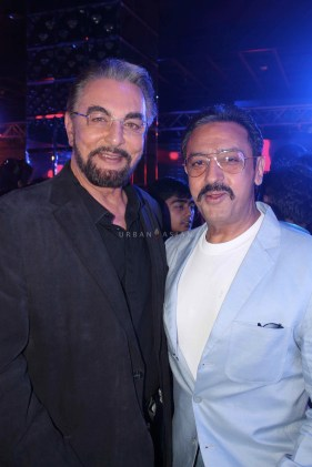 Kabir Bedi With Gulshan Grover At Party