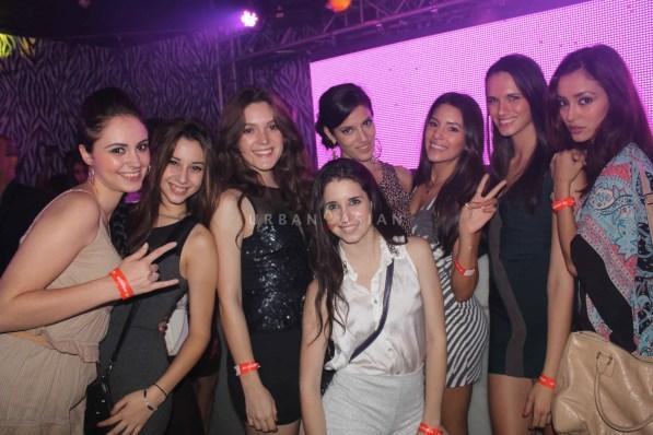 Models enjoying at party