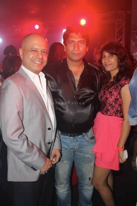 Naved jaffery satish Reddy with Reshma D'souza at party