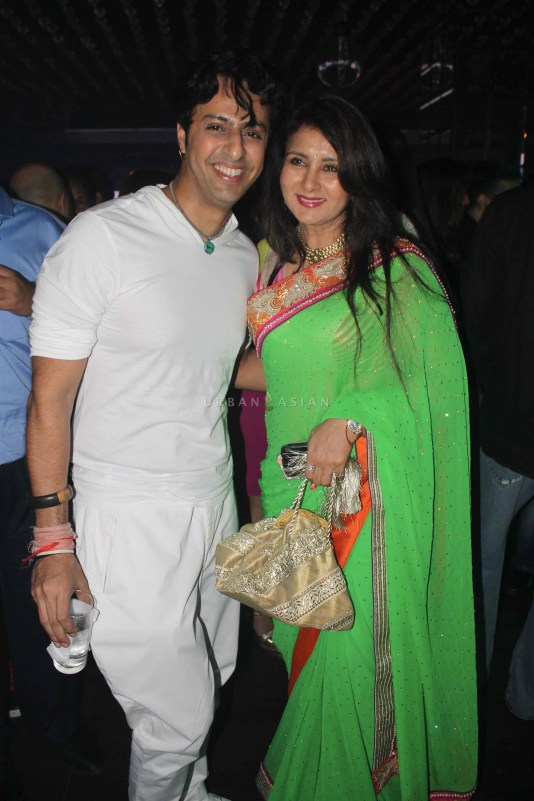 Salim With Poonam Dhillon At Party