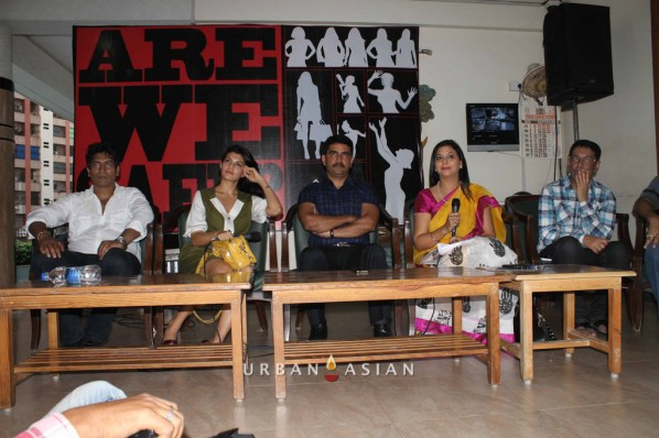 Satish Reddy Jacqueline Fernandez Additional Commissioner Vishwas Nangare Patil Socialist Gurpreet Kaur With Taran Adarsh At Are We Safe Campaign
