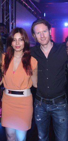 Shama Sikander With alex O'neil At Party