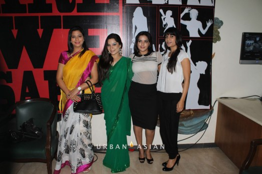 Socialist Gurpreet Kaur Diya Sharma Reshma Dsouza With Guest At Are We Safe Campaign